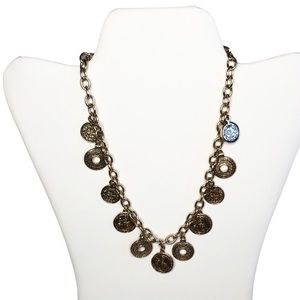 Bohme Gold Coin Necklace with adjustable length